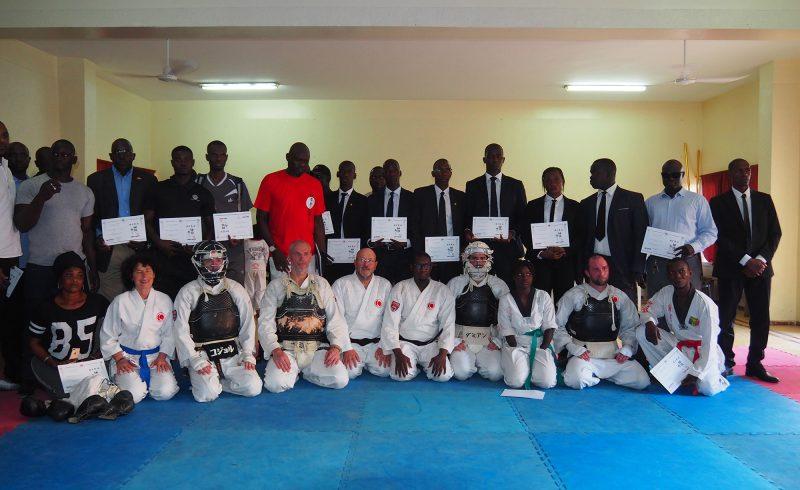 Stage d'initiation au Nippon Kempo à Dakar en mars 2020