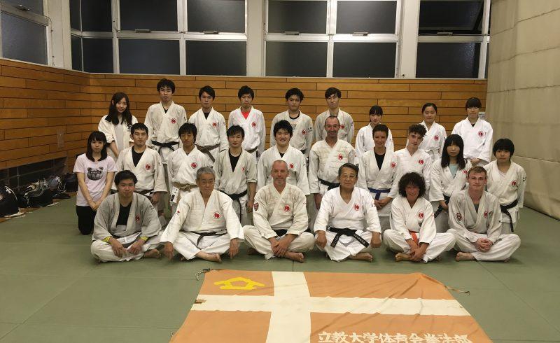 Stage organisé à l'Université de Rikkyo à Tokyo en 2017 grâce à Saito Sensei
