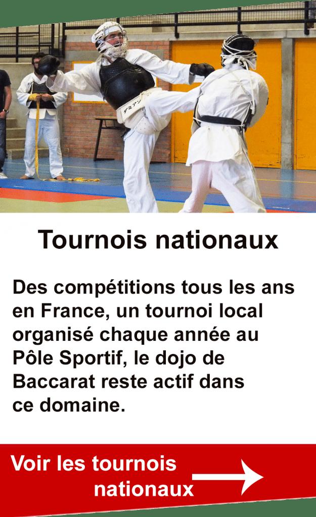 Tournois nationaux avec la participation du dojo de Baccarat